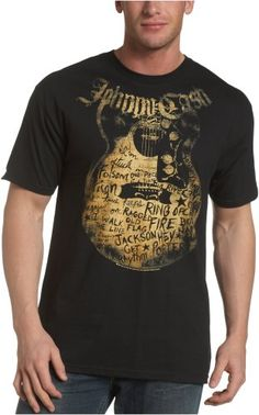 Zion Rootswear Men's Johnny Cash Songs T-Shirt $10.26