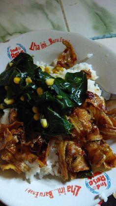 Nasi katuk ikan asin
