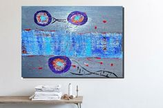 Original Art Large Abstract Painting Bedroom art by PooArtGallery
