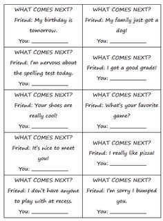 Free social what comes next? Repinned by  SOS Inc. Resources  http://pinterest.com/sostherapy.