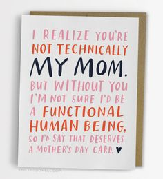 Mother's day is for mother figures too! $4.50 on Keep!