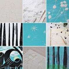NATURKINDER: Turquoise (Woodprint)