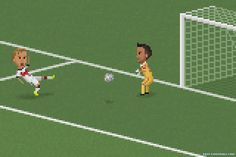 Matheus Toscano recreates the memorable FIFA World Cup moments in all their 8-bit glory