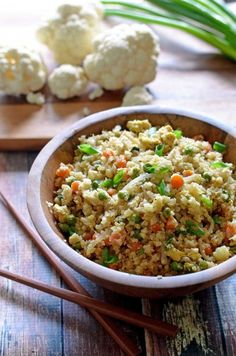 "Cauliflower Fried ""Rice"". Low-carb, chock full of antioxidants, easy to make, and delicious. : EatCheapAndHealthy"