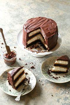 6 Unreal Chocolate Cake Recipes #refinery29  http://www.refinery29.com/chocolate-cake-recipes#slide-3  Heaven And Hell Cake, Courtesy Of Sugar And CharmIngredientsChocolate Cake: 2 cups flour 2 cups sugar 1 3/4 cups cocoa powder 1 1/2 tsp baking soda 1 1/2 tsp baking powder 1/2 tsp salt 2 eggs<b...