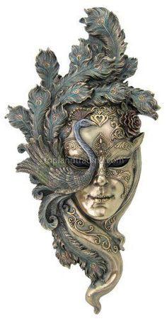Grande-Señora-Peacock-veneciano-estilo-carnaval-Mask-Wall-Decor-Nueva-Libre-Envío