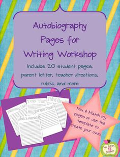 FREE! This cute autobiography unit for writing workshop will turn into a cherished keepsake for your students and their families. When we have access...
