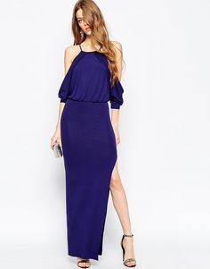 ASOS Cold Shoulder Maxi Bodycon Dress at ASOS. How To Dress For A Wedding, Pencil Dress, Fashion Online, Asos, Cold Shoulder Dress, Bodycon Dress, My Style, Shopping, Collection
