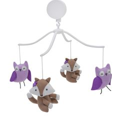 The Bedtime Originals Lavender Woods Baby Musical Mobile will help to lull your baby to sleep for a nap or bedtime. This soothing musical mobile features some f Baby Crib Mobile, Baby Cribs, Mobile Kids, Owl Mobile, Happy Baby, Happy Kids, Baby Musical Mobile, Purple Owl, Music Decor