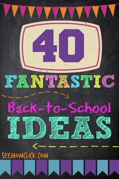 40 Fantastic Back to School Ideas: School lunch, crafts, shopping tips, free printables, and more. Get my favorite tips for the best school year evah right here!