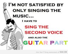 Being a choir nerd lol...but i also sing the tenor and attempt the bass part so BAM!!!!(and I am SOPRANO)