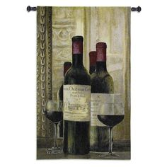Fine Art Tapestries Pomerol Wall Tapestry - 2337-WH