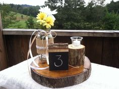 Rustic chalkboard table numbers set of 10 by SawmillCreations, $29.00