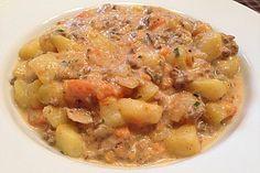 Kartoffel-Hackfleisch-Topf mit Schmand und Möhren 12