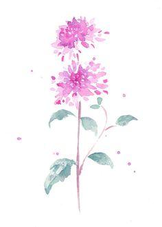 FIne art aquarel bloei bloesem bloem kunst abstracte door ChiFungW