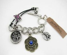 Lucky Brand Dragon Peace Flower Bracelet