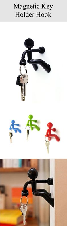 Diageng Key Pete Strong Magnetic Key Holder Hook Rack Magnet.Strong magnet holds up to 30 keys. Attaches to metallic door, fridge or other metal surfaces.Perfect for smart homes and kitchen #KeyHolder #metallicdoor #homes #kitchen