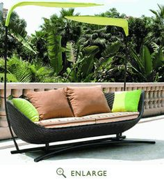 Bask Wicker Rattan Outdoor Patio Sun Bed EEI-740; $893