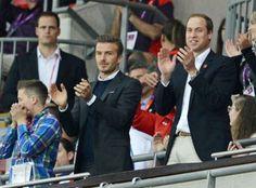 David Beckham e Príncipe William assistem jogo juntos na Olimpíada