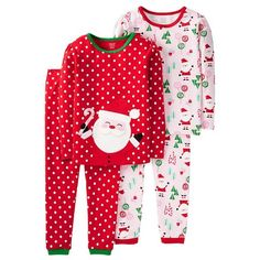 4 Piece Santa Candy Canes Cotton PJ - Just One You™Made by Carter's®