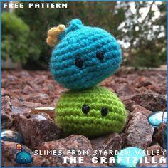 Crochet Game, Crochet Toys, Free Crochet, Knit Crochet, Knitting Patterns, Crochet Patterns, Crochet Ideas, Free Slime, Crochet Monsters