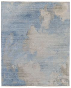 """""""Clouds– Spring"""" pattern rug by Luke Irwin, London, England. Established in 2003, Luke Irwin specialises in the design and manufacture of hand-knotted custom made rugs. Go to the site to see the immense selection of patterns that can be made to meet special customer specifications."""