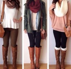 Scarfs + Boots!!