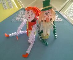 Bonecos de rolo de papel - Emília e Visconde