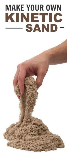 Make your own kinetic sand- only 3 ingredients! Seriously?? I can't wait to try this!