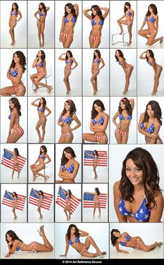 Stock: Molly in US Flag Bikini by ArtReferenceSource on deviantART