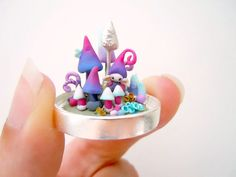 eMicro gnome and mushroom terrarium  with glass by MijbilCreatures, $65.00