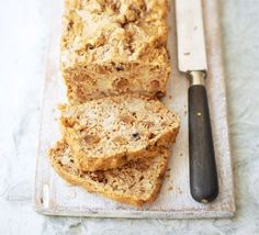 The natural sweetness of fruit and a drizzle of agave syrup means less added sugar is needed in this banana bread