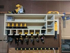 Cordless Drill Charging and Storage Rack - YouTube