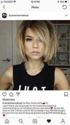 80 Bob Hairstyles To Give You All The Short Hair Inspiration - Hairstyles Trends Medium Hair Styles, Short Hair Styles, Pinterest Hair, Hair Affair, Great Hair, Pretty Hairstyles, Hairstyle Ideas, Fat Face Hairstyles, School Hairstyles
