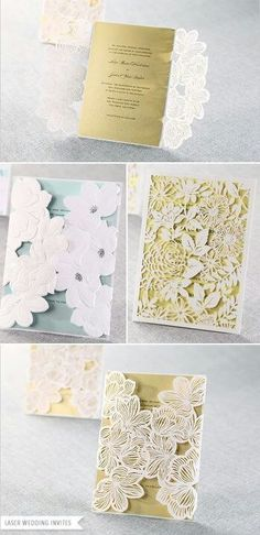 Lazer cut wedding invitations