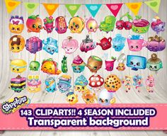 SHOPKINS CLIPART 143 differents Shopkins 4 by DecorationsLeon