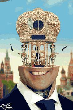 Tete mecanique GIF animation 9 Les têtes mécanisées de Milos Rajkovic
