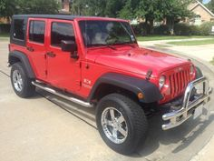 Sold  2007 Jeep Wrangler Unlimited X BEAUTIFUL BRIGHT RED CHROMED OUT 2007 JEEP  WRANGLER ba9c850c4556