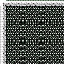 Drawdown Image: Threading Draft from Divisional Profile, Tieup: Crackle Design Project, Draft #13380, 4S, 4T