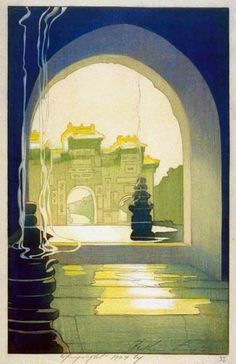 Through the West Gate  by Bertha Lum, 1924.....Meaux, a whole new Bertha   Lum for you to love!