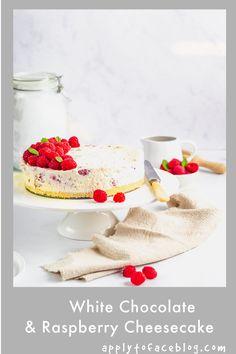 No Bake Caramel Cheesecake, Nutella Cheesecake, Baked Cheesecake Recipe, Raspberry Cheesecake, Make Ahead Desserts, Easy Desserts, Chocolate Cream Cheese, White Chocolate, Freeze Dried Raspberries
