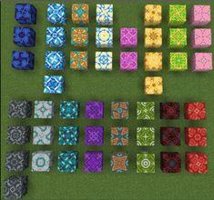 How to get Glazed Terracotta Minecraft Blog Minecraft Floor Designs, Minecraft Banner Designs, Minecraft Interior Design, Minecraft Banners, Minecraft Decorations, Cool Minecraft Houses, Minecraft Buildings, Amazing Minecraft, Minecraft Building Blueprints