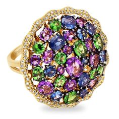 Rosendorff 'Water Colours Collection' Cocktail Ring