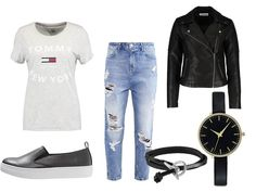 Classic casual street style look. Summer fashion