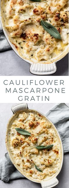 Creamy Cauliflower Mascarpone Gratin Cauliflower Mascarpone Gratin: A creamy baked cauliflower side dish with mascarpone, heavy cream and parmesan cheese, seasoned with fresh herbs. Perfect for a holiday casserole. Cauliflower Side Dish, Cauliflower Gratin, Creamy Cauliflower, Cauliflower Recipes, Cauliflower Casserole, Vegetable Side Dishes, Vegetable Recipes, Vegetarian Recipes, Keto Recipes