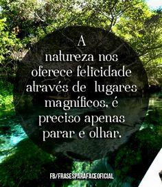 A natureza nos oferece felicidade através de lugares magníficos, é preciso apenas parar e olhar. (...) https://www.frasesparaface.com.br/a-natureza-nos-oferece-felicidade-atraves-de/