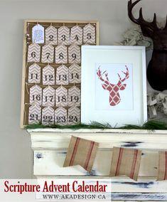 Printable Art – Scripture Advent Calendar Tags via @akadesigndotca