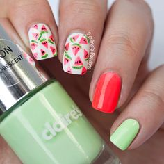 Juicy Watermelon Nails