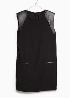 Kup mój przedmiot na #vintedpl http://www.vinted.pl/damska-odziez/krotkie-sukienki/16035190-mango-nowa-sukienka-skorzane-wstawki-r-sm