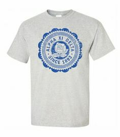 Alpha Xi Delta Old Style Classic T-Shirt SALE $10.00. - Greek Clothing and Merchandise - Greek Gear®